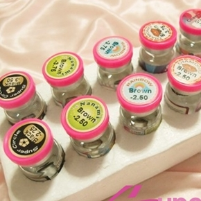ReView Contact Lens :๑۩۞۩๑: Kitty cawaii diamond brown/Rainbow brown