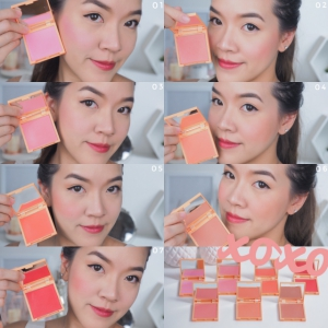 XOXO blush review and swatch 7 สีครบ